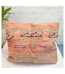 cotton shoulder bag, 'happy couple' (mexico)