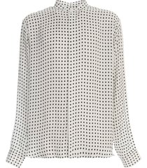 oversized dotted cupro shirt
