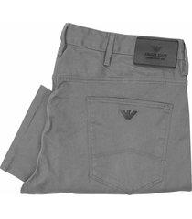 armani jeans j06 slim fit grigio grey trousers 6x6j06