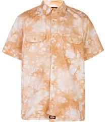 clot tie-dye short-sleeve shirt - orange