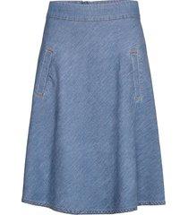 light indigo stelly knälång kjol blå mads nørgaard