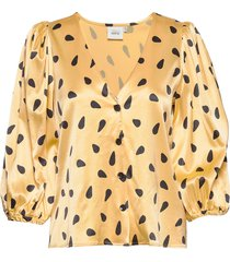 lutillegz shirt hs20 blouse lange mouwen geel gestuz