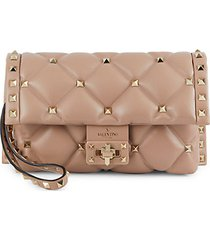 rockstud quilted leather clutch