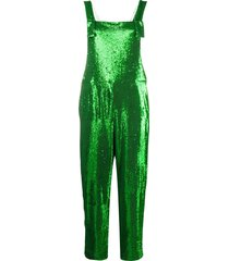 p.a.r.o.s.h. embroidered straight-leg jumpsuit - green