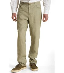 pantalón lino verde rockford