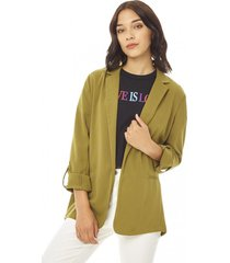 blazer básico mujer verde militar corona