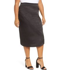 plus size women's accuracy pull-on satin jacquard skirt