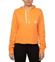 hurley juniors' luette cut off hoodie