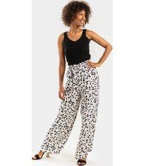women's janie leopard paperbag pants in leopard by francesca's - size: 3x