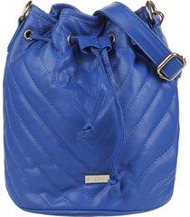 bolso azul stefani liso