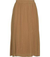 byfoya plisse skirt2 - knälång kjol brun b.young
