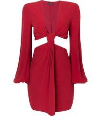 vestido le lis blanc karina curto vermelho feminino (páprica, 50)