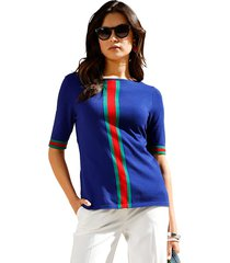 trui amy vermont royal blue::rood::groen
