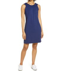 tommy bahama embroidered neck dress, size small in island navy at nordstrom