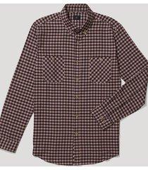 camisa casual cuadros burdeo trial
