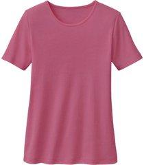 biokatoenen shirt met ronde hals, azalea 36/38