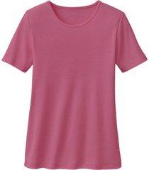 biokatoenen shirt met ronde hals, azalea 34