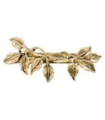 fivela folhas - dourado