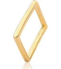 anel quadrado estelle semijoias zara banhado em ouro 18k - feminino