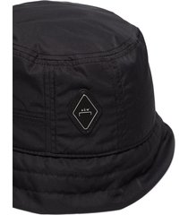 a-cold-wall black nylon bucket hat with logo