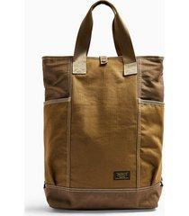 mens toffee brown tote backpack