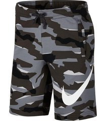 pantaloneta nike camofrench terry camouflage-gris-gris