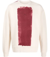 a-cold-wall* block painted-print cotton sweatshirt - neutrals