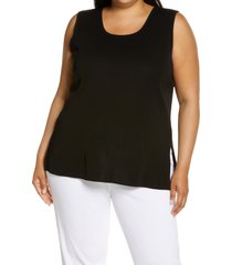 ming wang scoop neck tank, size 0x in black at nordstrom