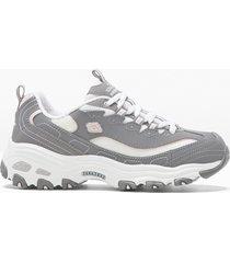 sneaker in pelle skechers (grigio) - skechers