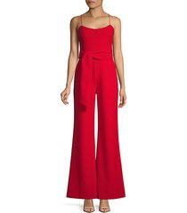 self-tie wide-leg jumpsuit