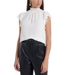 1.state trendy plus size smocked mock-neck top