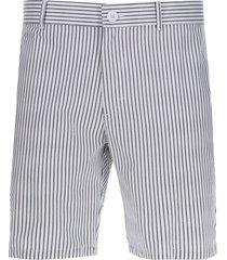bermuda lineas delgadas color blanco, talla 30