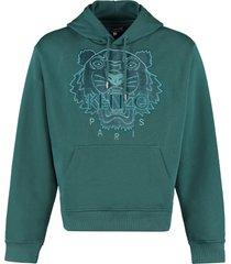 kenzo logo cotton hoodie