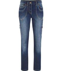 jeans cargo con ricami straight (nero) - bpc bonprix collection