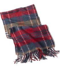 plaid boucle scarf