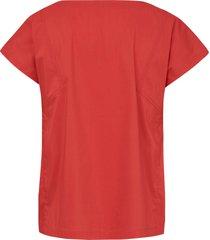 mouwloos shirt met verbrede schouders van day.like oranje