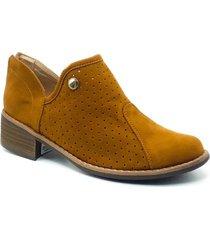 zapato  botin zavatty miel para mujer, modelo ta267