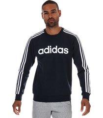 mens essentials 3-stripes crew sweatshirt