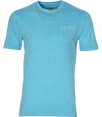 hensen t-shirt - extra lang - turquoise