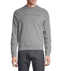 armani jeans men's logo sweatshirt - grey - size s