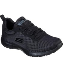 zapatos mujer  flex appeal 3.0-first insight negro skechers