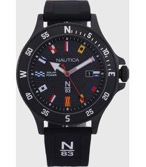 reloj negro-multicolor nautica