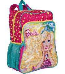 mochila grande com bolso barbie 19m plus infantil sestini