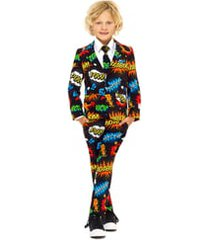 boy's opposuits badaboom two-piece suit with tie (toddler, little boy & big boy)