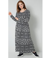 jersey jurk sara lindholm zwart::champagne
