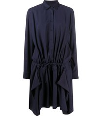 kenzo ruffled shirt dress - blue