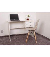 mesa para computador e escrivaninha impã©rio brazil - branco/incolor - dafiti
