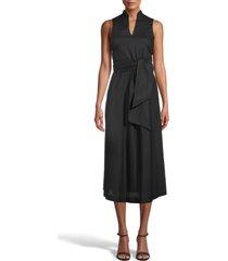anne klein sleeveless cotton midi dress, size x-large in anne black at nordstrom