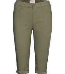 amie-sho-power trousers capri trousers grön free/quent