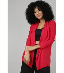 capa feminina assimétrica vermelha
